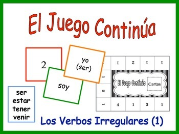 Spanish Irregular Verbs Activity for Groups (Version 1)