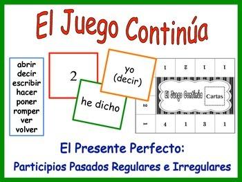 Spanish Present Perfect (Regular and Irregular) Activity for Groups
