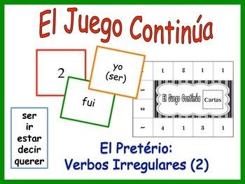 Spanish Irregular Preterite Activity for Groups (Version 2)