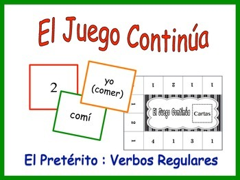 Spanish Regular Preterite Activity for Groups