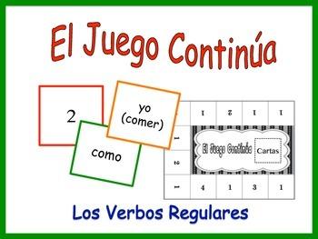 Spanish Regular Verbs Activity for Groups