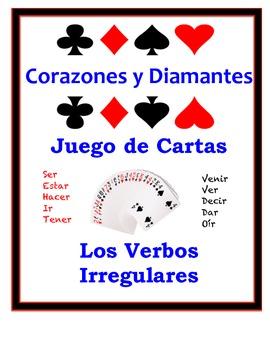Spanish Irregular Verbs Speaking Activity: Playing Cards, Groups