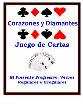 Spanish Present Progressive Speaking Activity: Playing Cards, Groups