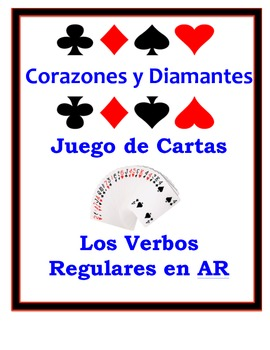 Spanish AR Verbs Speaking Activity: Playing Cards, Groups