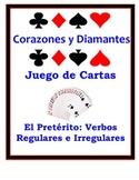 Spanish Preterite (Regular & Irregular) Speaking Activity: Playing Cards, Groups
