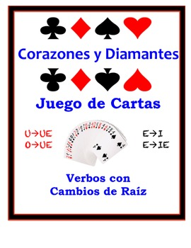 Spanish Stem-Change Verbs Speaking Activity: Playing Cards