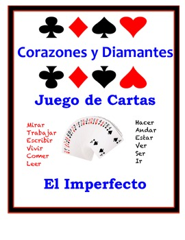 Spanish Imperfect Speaking Activity: Playing Cards, Groups