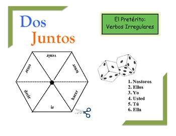 Spanish Preterite (Irregular) Practice Activity for Pairs or Groups