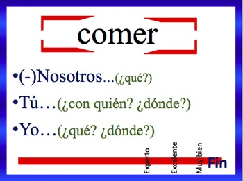 Spanish Present Progressive Sentence Writing Powerpoint