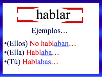 Spanish Imperfect Sentence Writing Powerpoint