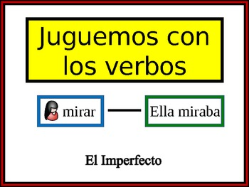 Spanish Imperfect Writing Activity, Powerpoint