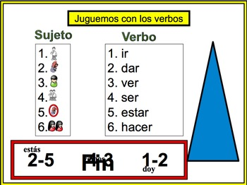 Spanish Irregular Verbs Writing Activity, Powerpoint