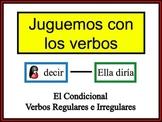 Spanish Conditional (Regular & Irregular) Writing Activity, Powerpoint
