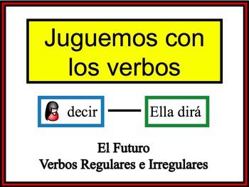 Spanish Simple Future (Regular & Irregular) Writing Activity, Powerpoint