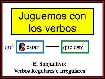 Spanish Subjunctive (Regular and Irregular) Writing Activity, Powerpoint