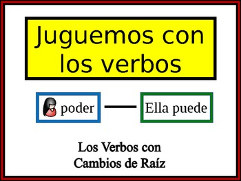 Spanish Stem-Changing Verbs Writing Activity, Powerpoint