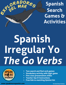Yo Go Verbs In Spanish Worksheets & Teaching Resources | TpT
