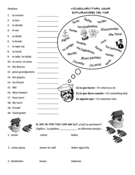 Spanish Verb Games for Regular Present Verbs AR,ER,IR. Presente Verbos Regulares