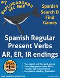 Spanish Verb Games for Regular Present Verbs AR,ER,IR. Presente Verbos Regulares