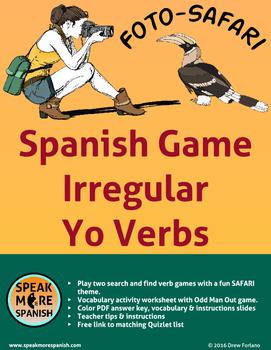 Spanish Verb Game * Irregular Yo Verbs * Presente de Verbos en YO