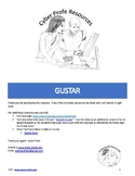 Spanish Verb Gustar focusing on Infinitives (includes 2 games)