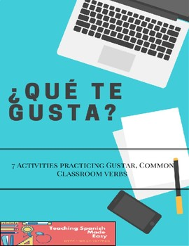 Freebie:7 Activities Spanish Verb Gustar -Speed dating, Video and writing