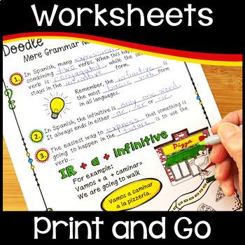 Spanish Verb IR (Doodle Grammar)
