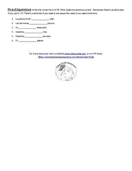 Spanish Verb IR free handout