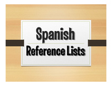 Spanish Reference Lists