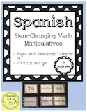 Spanish Stem-Changing Verbs Realidades 1 7A Hands on Practice