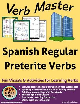 Spanish Verb Master Regular Preterite. Verbos Regulares del Pretérito Español