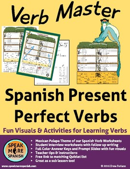 Spanish Verb Master for Present Perfect Verbs. Mexican Palapa Version!