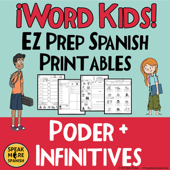 Spanish Verb PODER Printables for Elementary and Middle School Students