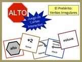 Spanish Preterite (Irregular) Verb Form Card Game