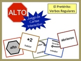 Spanish Preterite (Regular) Verb Form Card Game