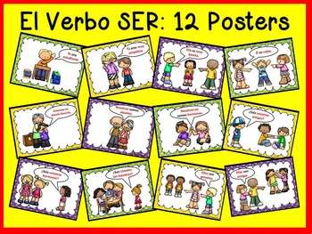 Spanish Verb SER BUNDLE   Worksheets, PowerPoint & Posters