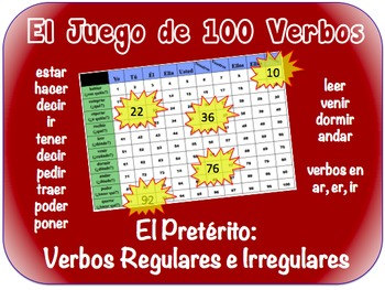 Spanish Preterite (Regular & Irregular Writing Activity (Powerpoint)