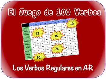 Spanish AR Verbs Writing Activity (Powerpoint)