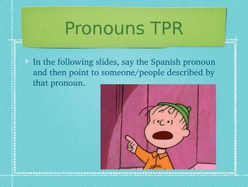 Spanish Ser & Basics of Conjugation PowerPoint Slideshow Presentation