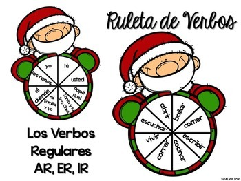 Spanish Verb Spinners:  Santa Edition