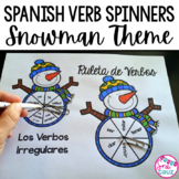Spanish Verb Spinners:  Snowman Edition