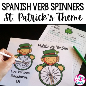 Spanish Verb Spinners:  St. Patrick's Day Edition