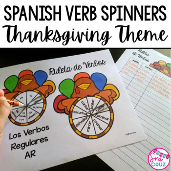 Spanish Verb Spinners:  Turkey Edition