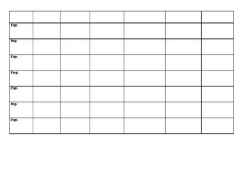 Spanish Verb Table Conjugations Practice