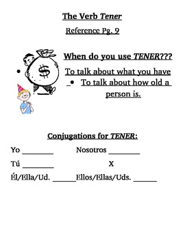 Spanish Verb Tener Notes
