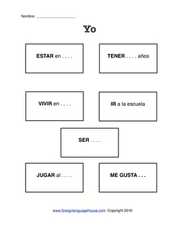 Spanish Verb Tense Practice: Mi Autobiografia