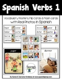 Spanish Verbs 1 Vocabulary Posters & Flashcards with Real Photos