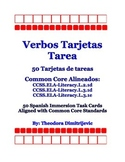 Spanish Verbs: 50 CCSS.ELA-Literacy.L.3.1d Task Cards