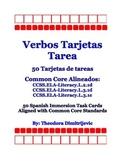 Spanish Verbs: 50 CCSS.ELA-Literacy.L.2.1d, Literacy.L.3.1d & L.3.1e Task Cards