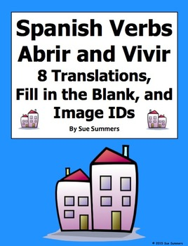 Spanish Verbs Abrir and Vivir and Image IDs